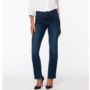 NYDJ Marilyn Straight Blue Jeans
